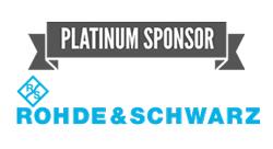 Platinum Sponsor Rohde & Schwarz